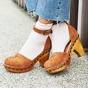Jeffrey Campbell for free people Daubs Boho clogs
